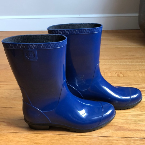 UGG Shoes - UGG Sienna Blue Jay Rubber Rain Boots